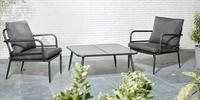 Chaise lounge Como noir-Image 1
