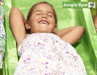 Jungle Gym houten schommel Cubby met groene glijbaan-Artikeldetail
