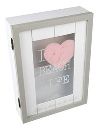 Cosy@home Armoire à clés I Love Beach Life blanc/gris/rose