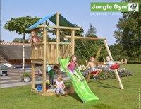 Jungle Gym portique en bois De Hut avec toboggan vert