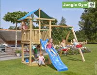 Jungle Gym portique en bois De Hut avec toboggan bleu-Image 1
