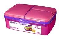 Sistema boîte à tartines Slimline Quaddie rose