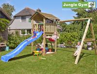 Jungle Gym portique en bois Cottage avec toboggan bleu