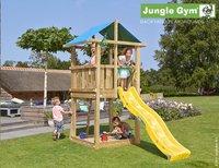 Jungle Gym tour de jeu en bois De Hut avec toboggan jaune