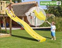 Jungle Gym houten schommel Cubby met gele glijbaan-Afbeelding 2