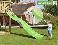 Jungle Gym portique en bois Barn avec toboggan vert-Image 2