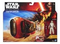 Star Wars ruimteschip Speeder met Rey-Vooraanzicht