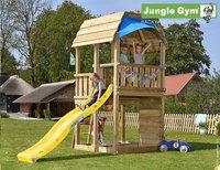 Jungle Gym Houten speeltoren Barn met gele glijbaan-Afbeelding 1