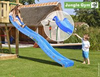Jungle Gym houten schommel Barn met blauwe glijbaan-Afbeelding 2