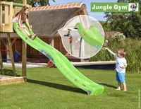 Jungle Gym tour de jeu en bois Cubby avec toboggan vert-Image 2