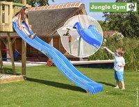 Jungle Gym Houten speeltoren Barn met blauwe glijbaan-Afbeelding 2