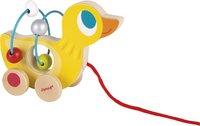 Janod jouet à tirer 2 en 1 Mini Looping Canard en bois-commercieel beeld