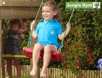 Jungle Gym houten schommel Barn met blauwe glijbaan-Afbeelding 3