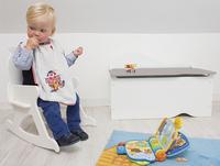 Speelgoedkoffer wit met grijs deksel-Afbeelding 1