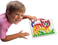 Quercetti mosaïques Fanta Color portable large 100 pièces-Image 1