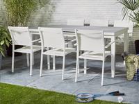 Chaise de jardin Victoria blanc-Image 2