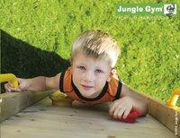 Jungle Gym houten schommel Barn met blauwe glijbaan-Afbeelding 4