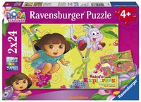 Ravensburger puzzle 2 en 1 Dora dans le jungle