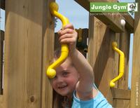 Jungle Gym houten speeltoren House met blauwe glijbaan-Afbeelding 4