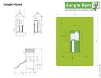 Houten schommel House met gele glijbaan-Artikeldetail