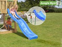 Jungle Gym houten speeltoren House met blauwe glijbaan-Afbeelding 2