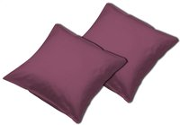 Sleepnight set de 2 taies d'oreiller bordeaux-Avant