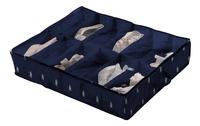 Compactor Opbergbox voor schoenen Kasuri blauw/wit - 2 stuks-Artikeldetail