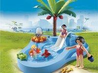 Playmobil Summer Fun 6673 Kinderbad met glijbaan-Afbeelding 1