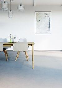 Mistral Home Chemin de table Uniline oyster L 140 x Lg 45 cm - 2 pièces-Image 1