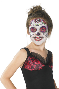 Déguisement Day of the Dead pour filles taille 128-Image 1