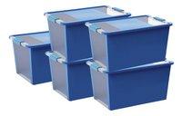 Kis Opbergbox Bi-Box transparant/blue 54 l - 5 stuks