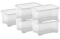 Kis Opbergbox T-Box transparant 19 l - 5 stuks-Vooraanzicht