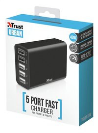 Trust lader USB Fast Charger 5 poorten-Rechterzijde
