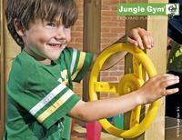Jungle Gym Houten speeltoren Barn met gele glijbaan-Afbeelding 3