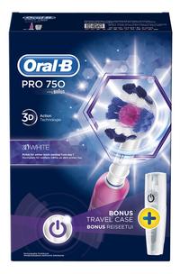 Oral-B Tandenborstel Pro 750 3D White-Vooraanzicht