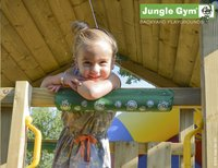 Jungle Gym tour de jeu en bois Cottage avec toboggan jaune-Image 4