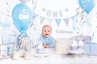 Set party 1st Birthday argenté/bleu-Image 2