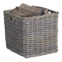 Practo houtblokkenmand medium grijs