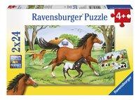 Ravensburger puzzle 2 en 1 Monde des chevaux