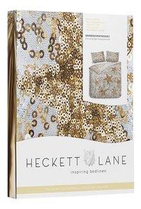 Heckett & Lane Housse de couette Lewis Shimmer gold coton 140 x 220 cm-Côté gauche