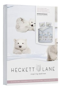Heckett & Lane Dekbedovertrek Ben Illusion blue flanel 240 x 220 cm-Linkerzijde