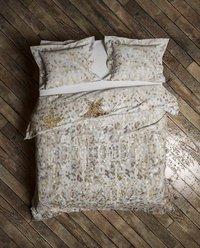 Heckett & Lane Housse de couette Lewis Shimmer gold coton 140 x 220 cm-Image 2