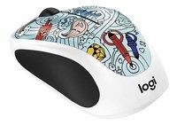 Logitech souris sans fil Doodle Collection M238 bleu