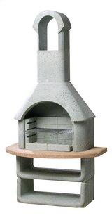 Buschbeck Barbecue au charbon de bois Las Palmas gris béton