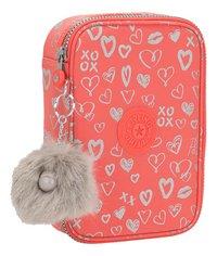 Kipling pennenzak 100 Pens Hearty Pink Met-Linkerzijde