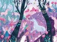 Crocodile Creek puzzel & poster Unicorns-Vooraanzicht