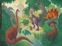 Crocodile Creek puzzel & poster Dinosaur-Vooraanzicht