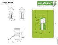 Jungle Gym houten speeltoren House met blauwe glijbaan-Artikeldetail