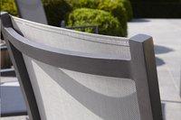 Tuinstoel Forios grijs/antraciet-Achteraanzicht