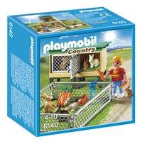 Playmobil Country 6140 Enfant avec enclos à lapins et clapier
